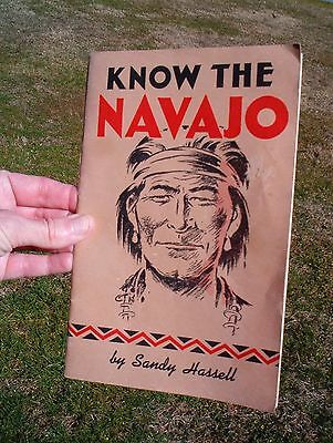 Vintage 1965 Know the Navajo / Sandy Hassell / SC book