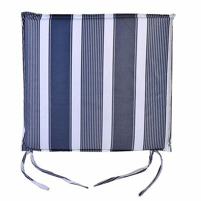 Set 2 Nautical Striped Summer Outdoor Kitchen Patio Yard Chair Pads Cushions