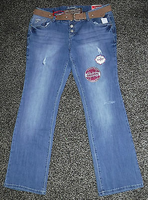 Fade To Blue Mid Rise Faux Leather Stretch Skinny Pencil Jeans NWT Junior Size