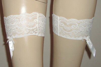 Elastic Lace Bands with non slip silicone with Garter