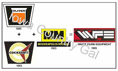 New Oliver Cockshutt Mm White Farm Equipment Laminated Poster