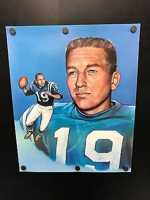 Johnny Unitas COLTS Signed Autographed 17 x 21 Lithograph  Limited Edition 1/750