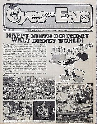 Rare May 1980 Disney Wdw Eyes & Ears Cast Newsletter 9Th Birthday Epcot Update