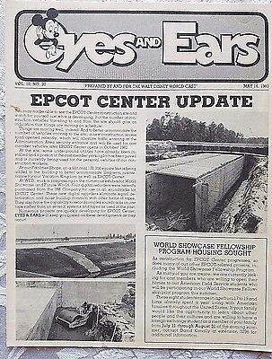 Rare May 1980 Disney Eyes & Ears Cast Newsletter Epcot Construction Site Prep