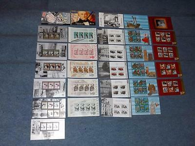 Guernsey-Good Lot Of 25 Booklet Panes From 5 Prestige Bklts-Unm-Mnh-Below Face