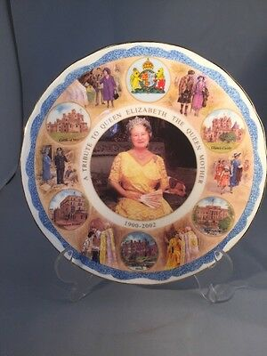 Queen Elizabeth Queen Mother A Farewell Tribute decorative plate Limited Edt