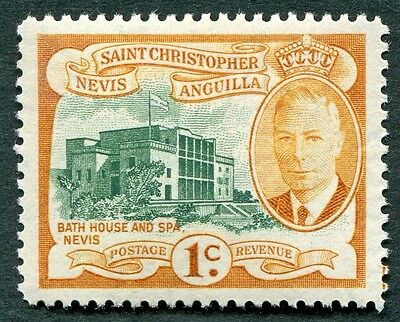 ST. CHRISTOPHER NEVIS AND ANGUILLA 1952 1c SG94 MH FG Bath House and Spa #W14
