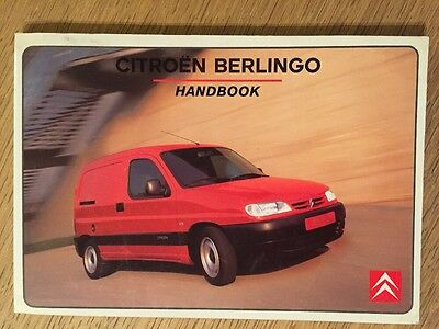 citroen berlingo owner manual handbook genuine 9 99 picclick uk rh picclick co uk citroen owner manual citroen relay owner's manual pdf