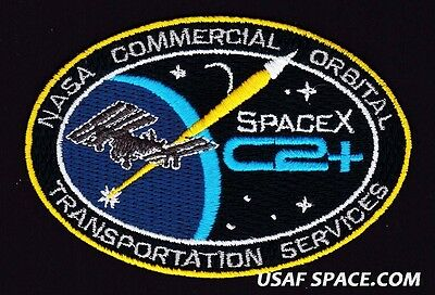 SPACEX C2+ - NASA COMMERCIAL ORBITAL TRANSPORTATION SERVICES - AB Emblem PATCH