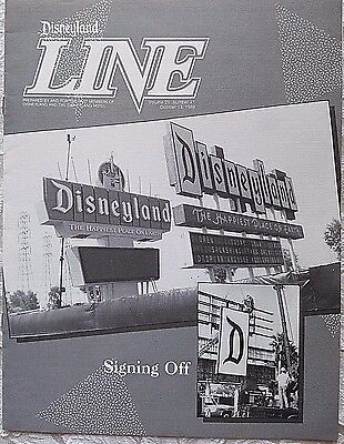 Rare Oct 1989 Disneyland Line Cast Member Newsletter New Park Marquee Sign
