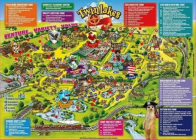 1 TWINLAKES Theme Park DISCOUNT VOUCHER £4 off (admits upto 6 people)