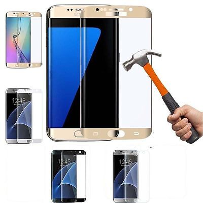 1*Tempered Glass Full Cover Screen Protector Guard For Samsung Galaxy S7 Edge 9H