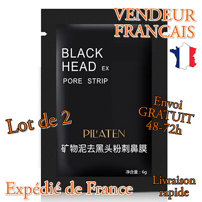 Black Purifying Peel-off Mask Supprime Points Noirs Acné x2