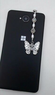 Dust Plug, Butterfly Dangle Charm For Mobile Phone, Tablet, iPad, iPhone