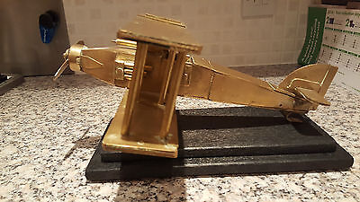 Art Deco/1940's Military Fighter Aircraft - Brass