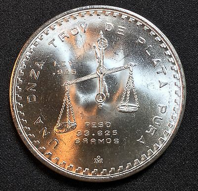 "1979 1oz silver Mexican Onza Type ll ""Treasure Coin of Mexico"""