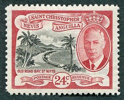 ST. CHRISTOPHER NEVIS AND ANGUILLA 1952 24c SG101 mint MH FG Old Road Bay #W14
