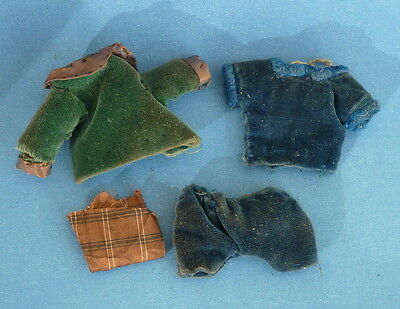 Vintage dolls house doll clothes.