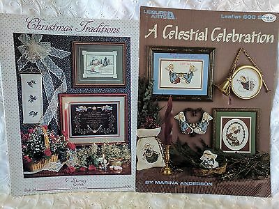 Cross Stitch Patterns - Lot of 2 Christmas Themed Booklets   Lot #18