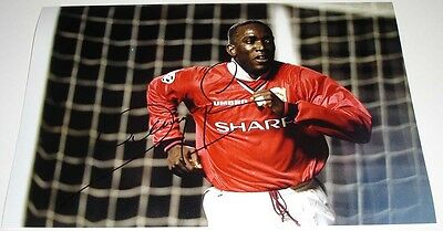 Dwight Yorke Manchester United Personally Signed Autograph 12X8 Photo Soccer