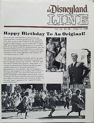 Rare July 1983 Disneyland Line Cast Newsletter Disneyland 28Th Anniversary