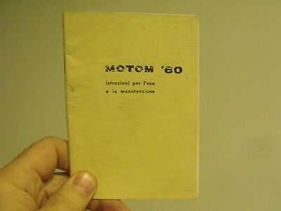 Motom 50cc.4 stroke engineowner manual service book vintage motorcycle moped