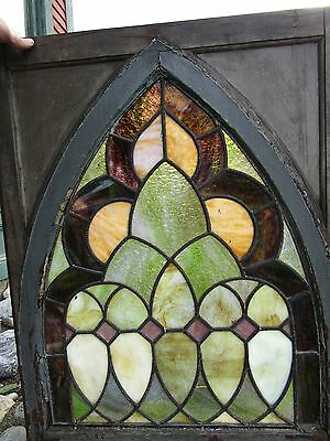 Victorian Stained Glass Window In Gothic Frame