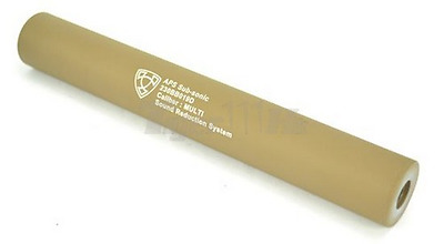 APS silenziatore 230mm Silencer CCW tan de AIRSOFT SOFTAIR