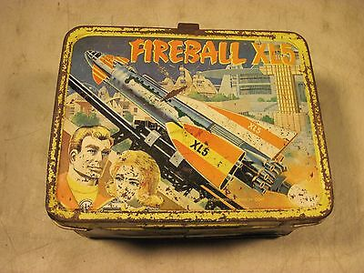 Vintage 1964 Fireball XL5 Metal Lunchbox Thermos King Seeley USA Rockets
