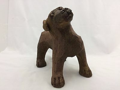 Small Brown Dog Statue Made of Composite Resin