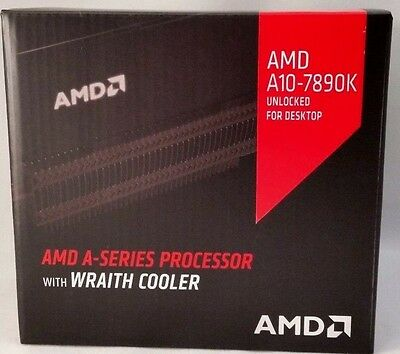 AMD A10-7890K (AD789KXDJCHBX) Quad Core APU Processor with Wraith Cooler *NEW*