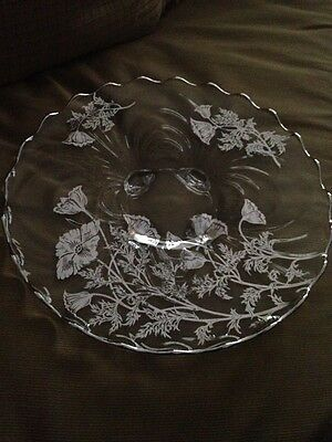 Beautiful Crystal Sterling Overlay Wedding Special Occasion Cake Plate  Dream