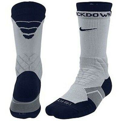 NIKE 2.0 ELITE VAPOR CREW FOOTBALL SOCKS- Style SX4924-104 WHITE/ NAVY BLUE