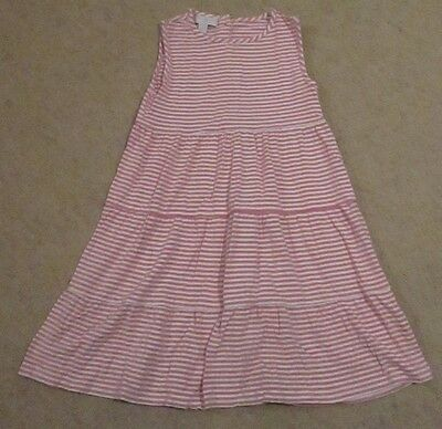 The Little White Company Pink & White Stripe Dress Age 4-5 Years