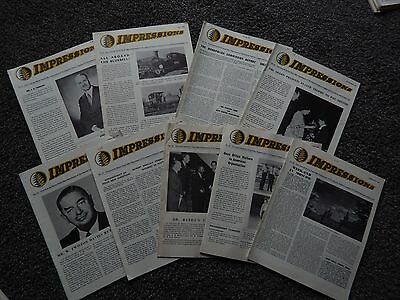 9 Issues of Impression Imp Tobacco / WD&HO Wills Bristol Staff Magazine 1961-63