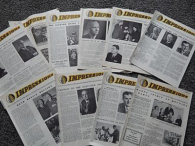 10 Issues of Impression Imp Tobacco / WD&HO Wills Bristol Staff Magazine 1963-65