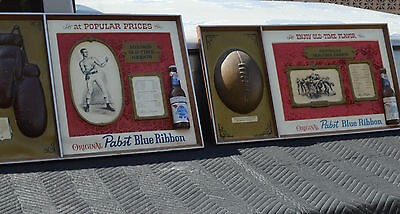 Pabst Blue Ribbon Vintage Rare and 3D Boxing and Football Signs