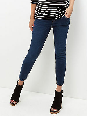 New Look (ex) Maternity Indigo Blue Under Bump Skinny Jeans Jeggings Sz 8-20 (3)