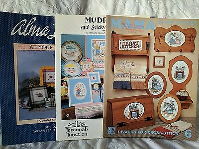 Cross Stitch Patterns - Lot of 3 Farm Kitchen Cooking Theme Booklets     Lot #26