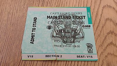 Castleford Tigers v Hull 2004 Used Rugby League Ticket