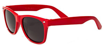 Kids Classic 80's Retro Wayfarer Beach Sunglasses Team Colors Red Gafas Del Sol