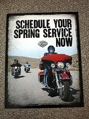 """Harley-Davidson Schedule Service Showroom Poster, 28"""" x 22"""", double-sided"""