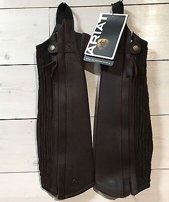 New Ariat All Around Chap III- Adult Size XS- Gorgeous Chocolate Leather Color