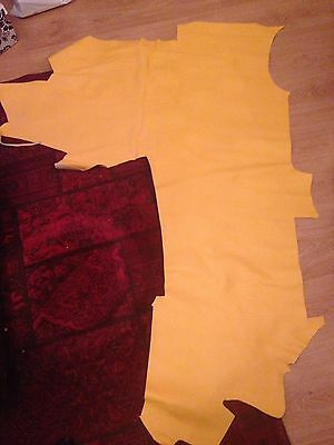 Perforated Leather Hide Yellow Upholstery Trimming