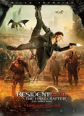 "Resident Evil: The Final Chapter : Movie  VINYL Poster 11"" x 17"" HI-RES BANNER @"