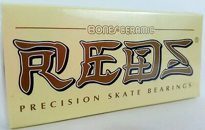 Bones Reds Ceramic Precision Skate Bearings.