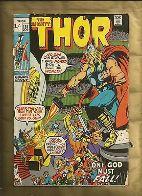 The Mighty Thor 181 vg+ 1970 Neal Adams British cvr price Variant Marvel Comics