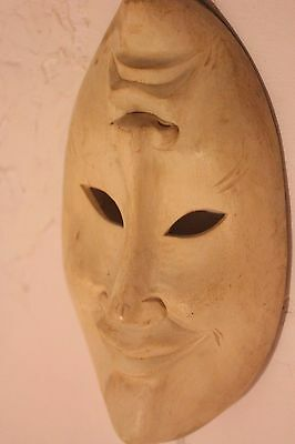 amazing comedy tragedy hand carved wood wall mask great carving 235mmX130mm