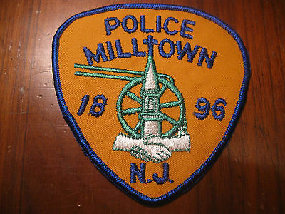 Milltown New Jersey Police Patch