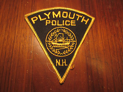 Plymouth New Hampshire Police Patch